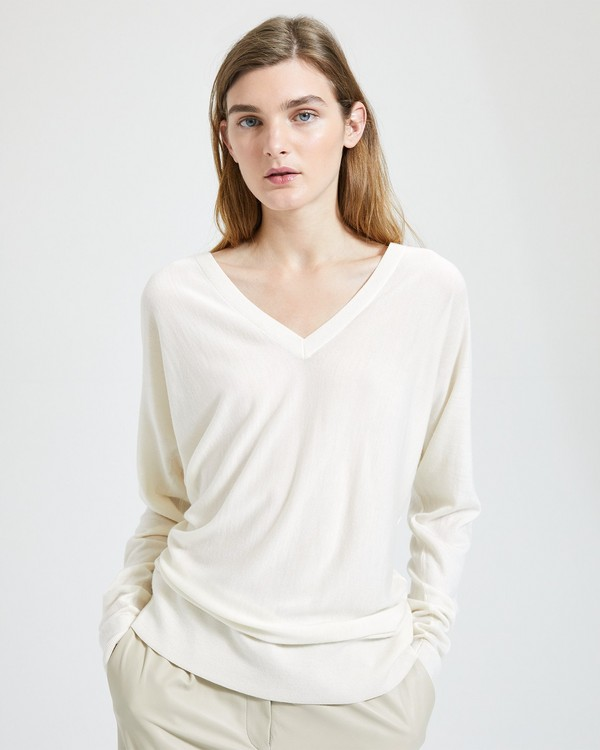 feda564d0530 Deep V Dolman-Sleeve Sweater