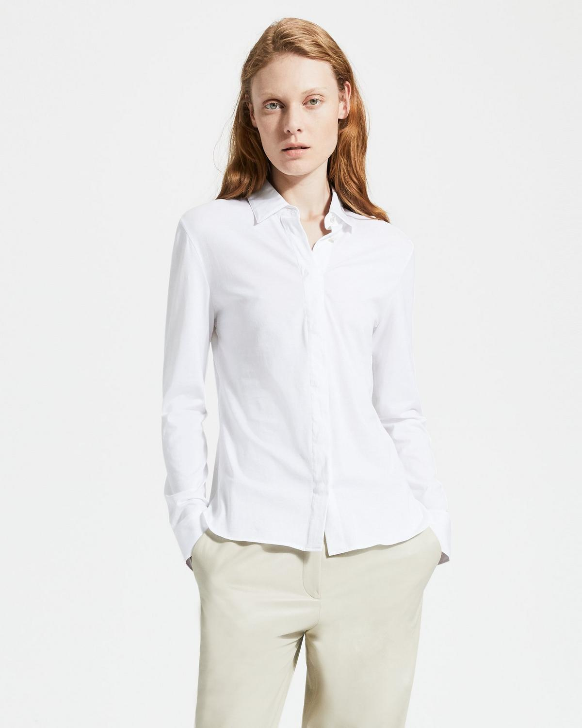 Jersey Cotton Fitted Shirt