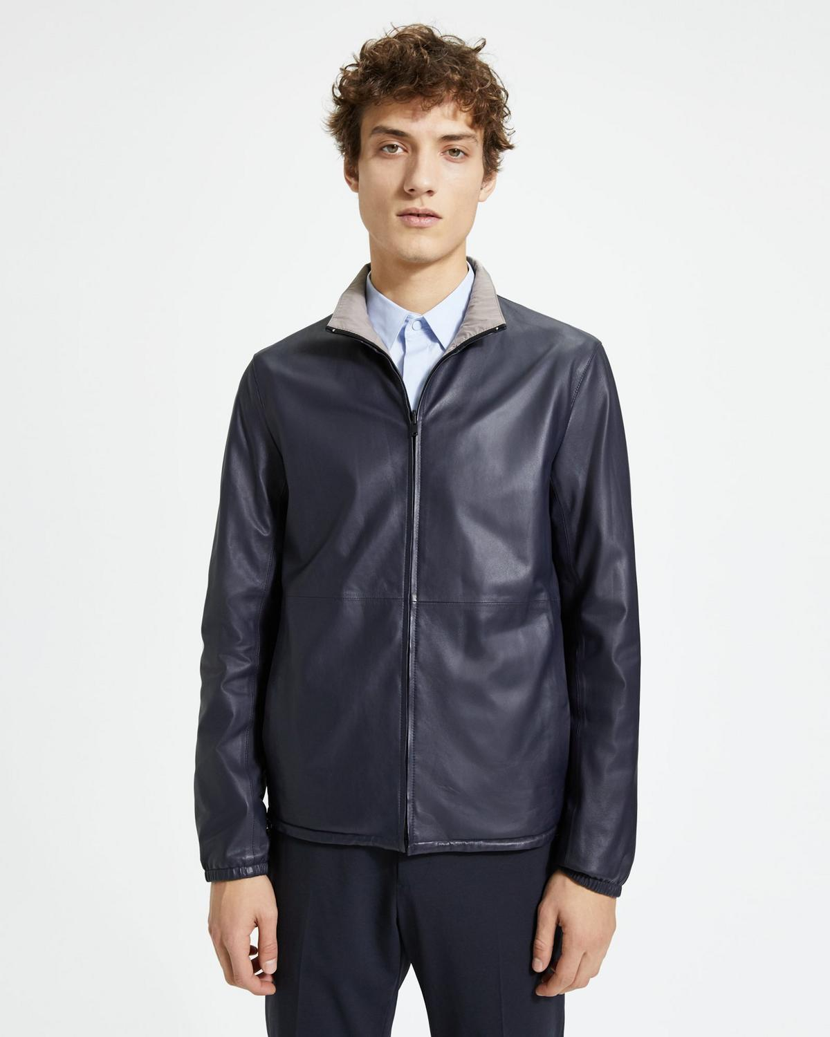 Reversible Packable Nappa Jacket