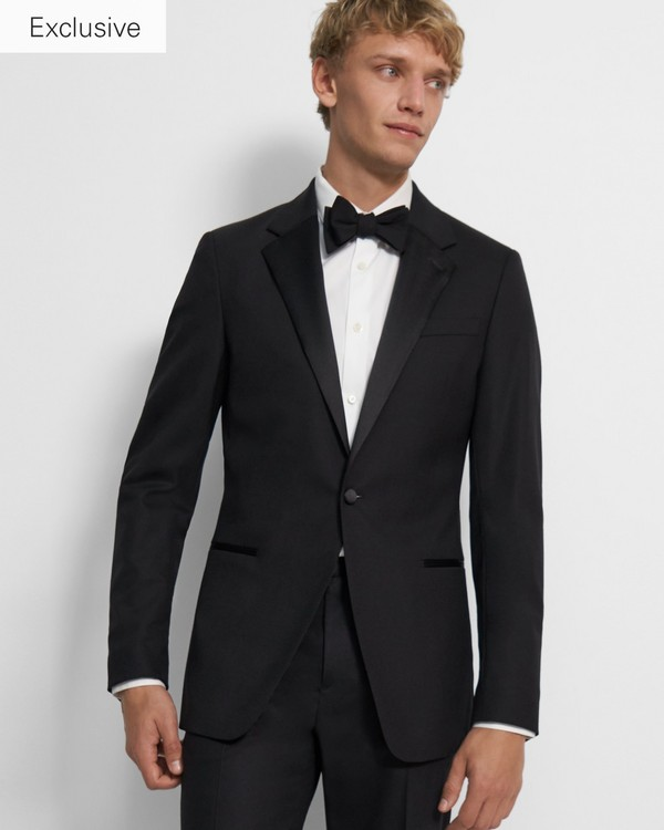 띠어리 맨 자켓 Theory Chambers Tuxedo Jacket,BLACK