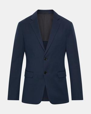 Unstructured Suit Jacket in Double Stretch Cotton