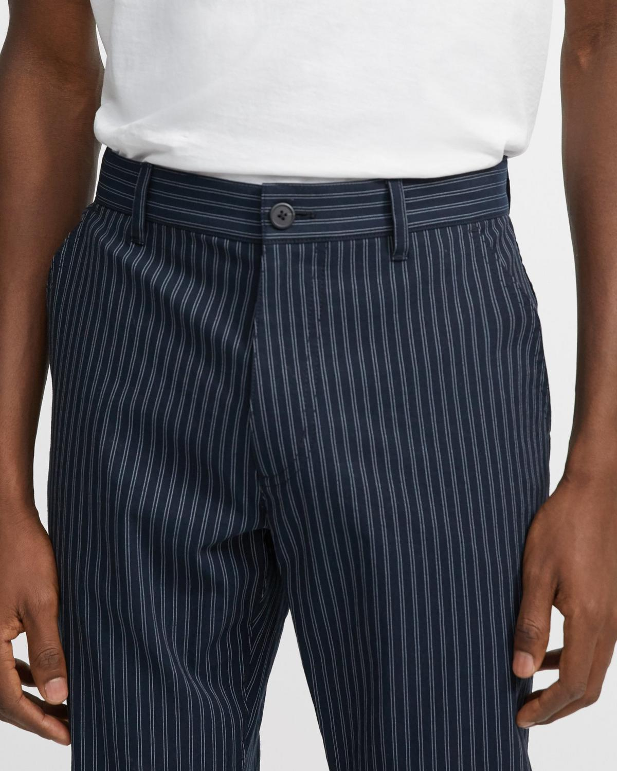 Striped Cotton-Linen Curtis Pant