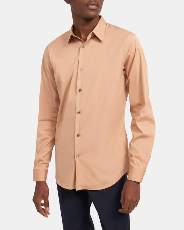 띠어리 셔츠 Theory Tailored Shirt in Good Cotton,TERRA