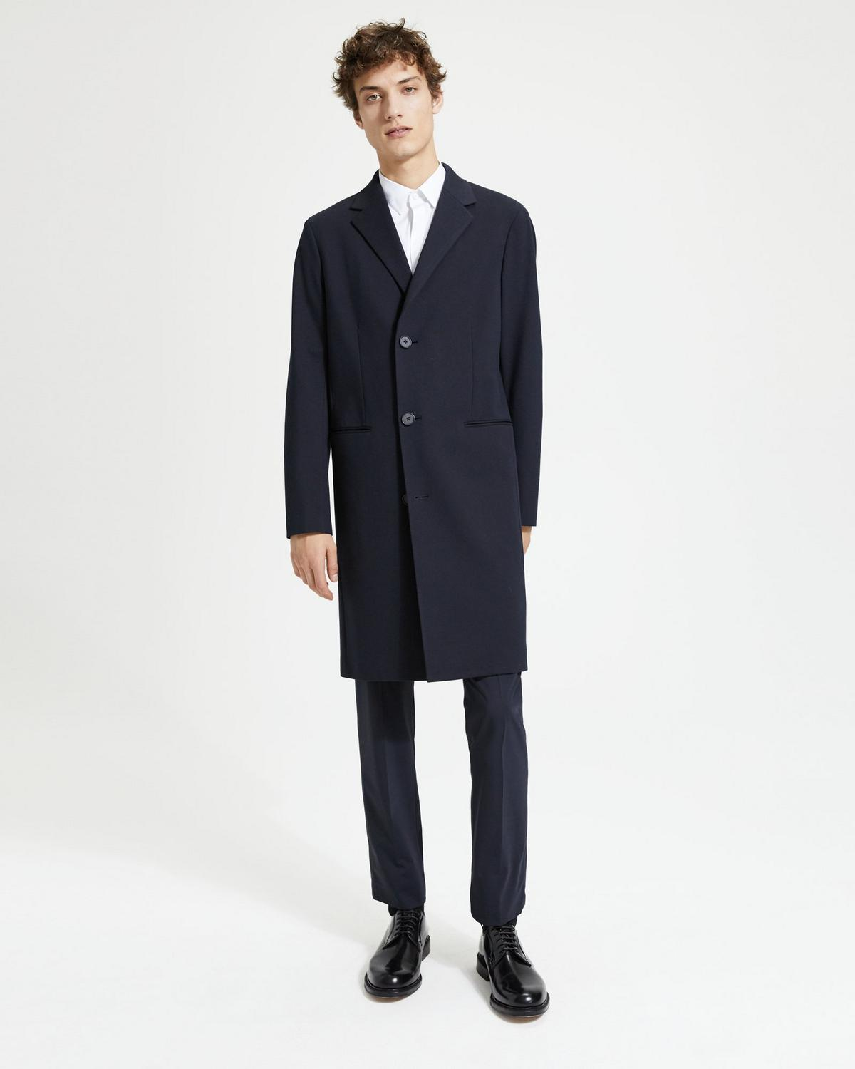 Bi-Color Ponte Coat