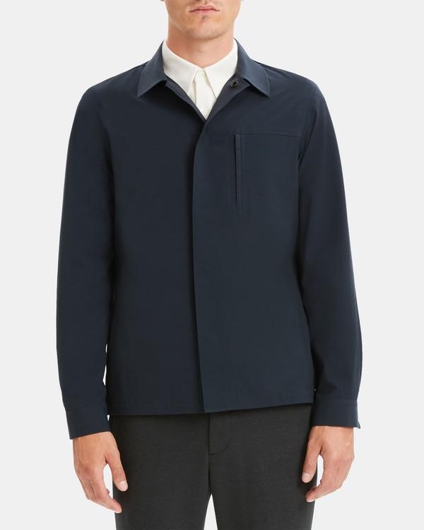 띠어리 맨 자켓 Theory Packable Jacket in Nylon-Cotton,ECLIPSE