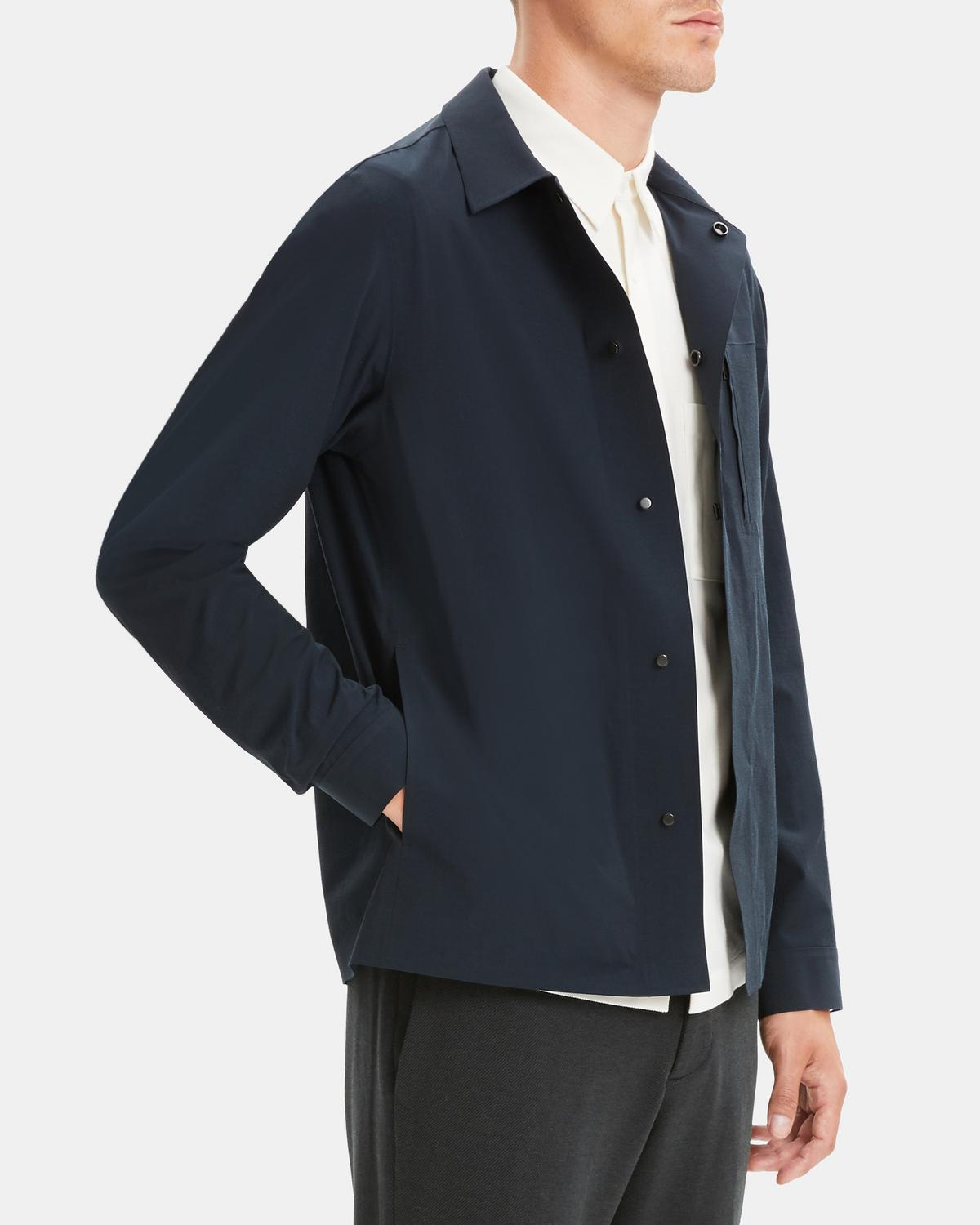Packable Jacket in Nylon-Cotton