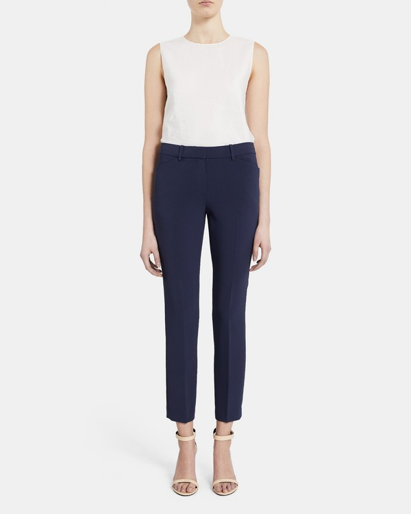 Slim Pant In Crepe