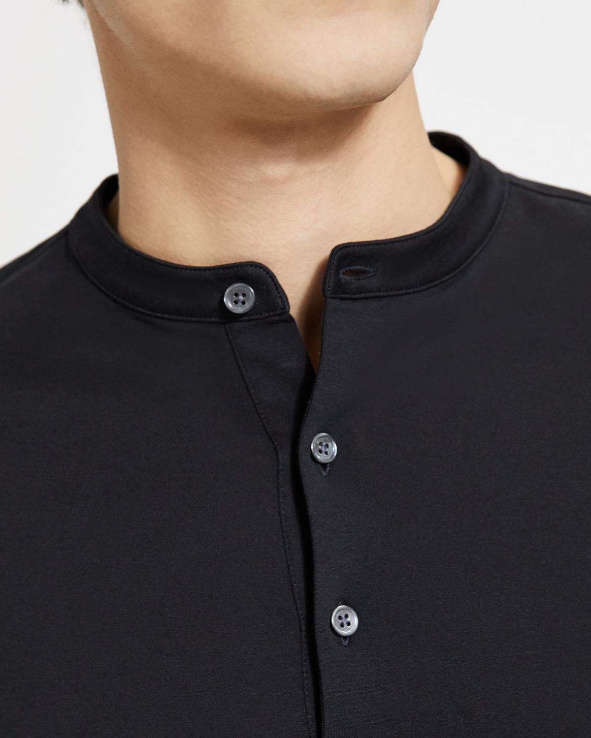 Luxe Cotton Jersey Henley