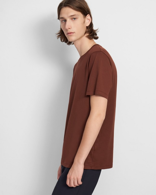 20FW 띠어리 맨 반팔티 Theory Precise Tee in Luxe Cotton Jersey,DK PIMENTO