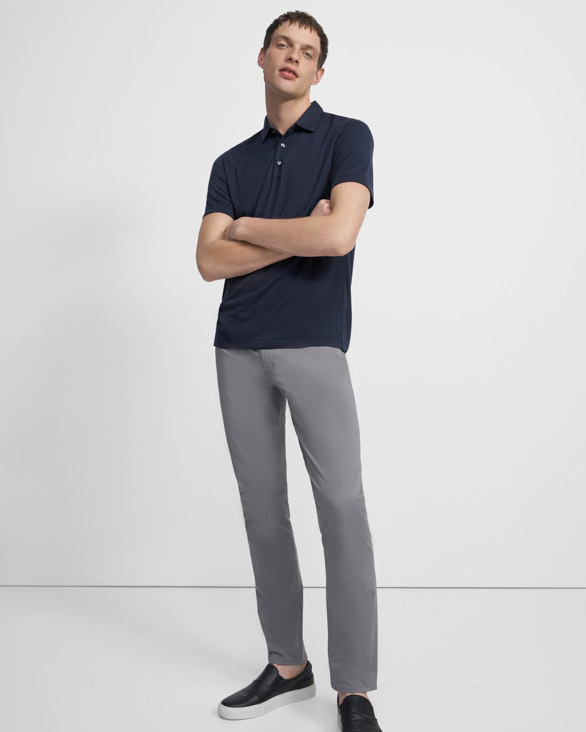 Polo Shirt in Modal Jersey