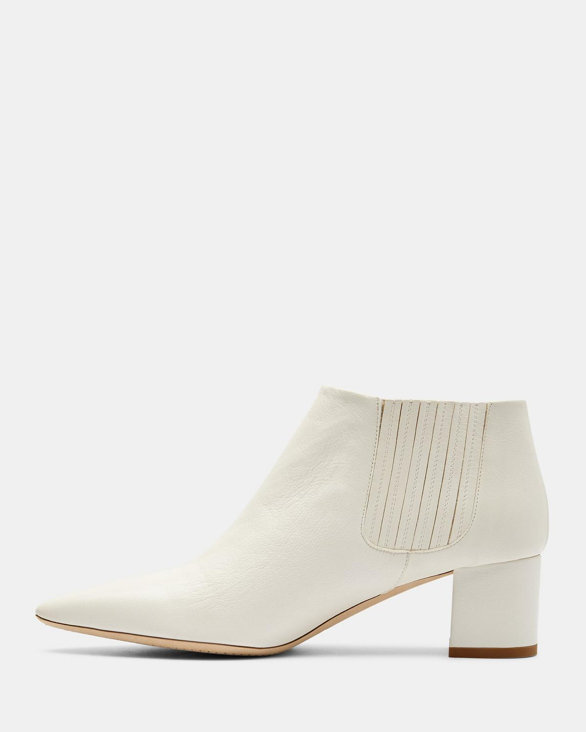 89a7f99cc2a Leather Mid Heel Bootie
