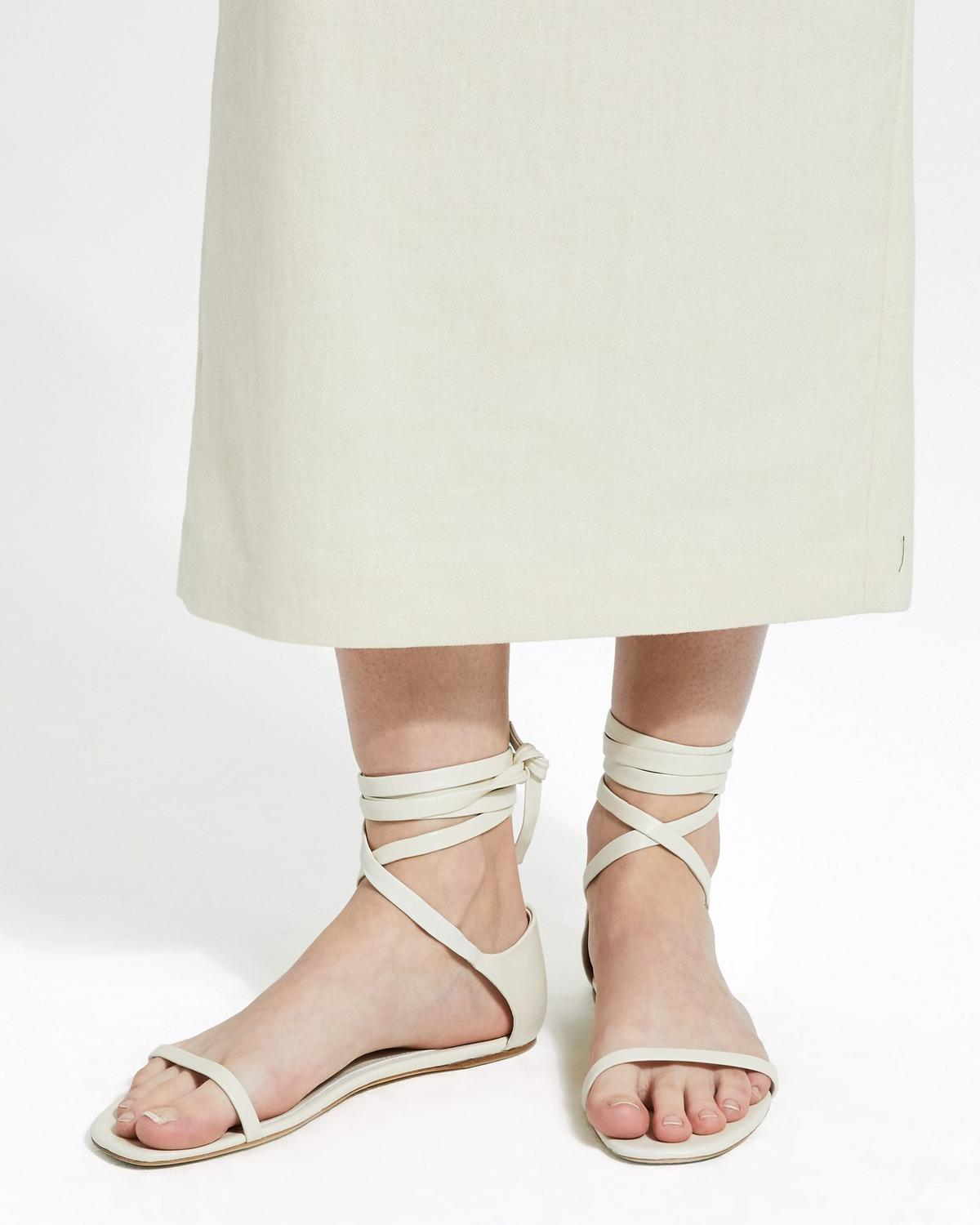 Wrap Sandal in Leather