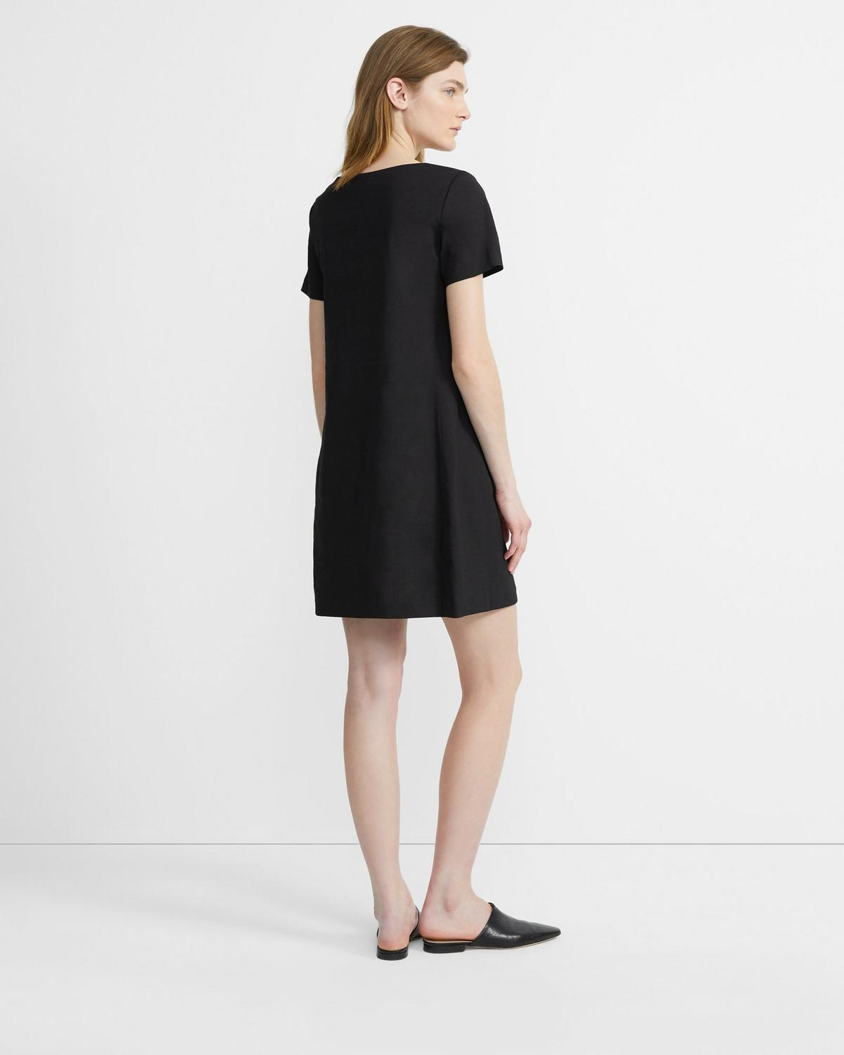 Good Linen Panel Shift Dress