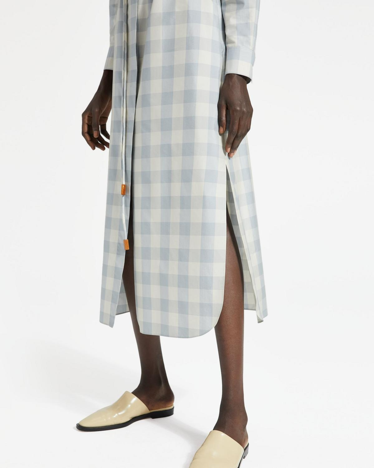 8c14da83d1 Check Belted Shirtdress | Theory