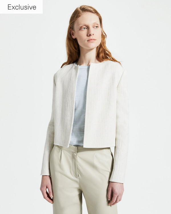 new concept b4af5 e50ff Linen Blend Cropped Jacket. Your Price  535.00. More Colors Available