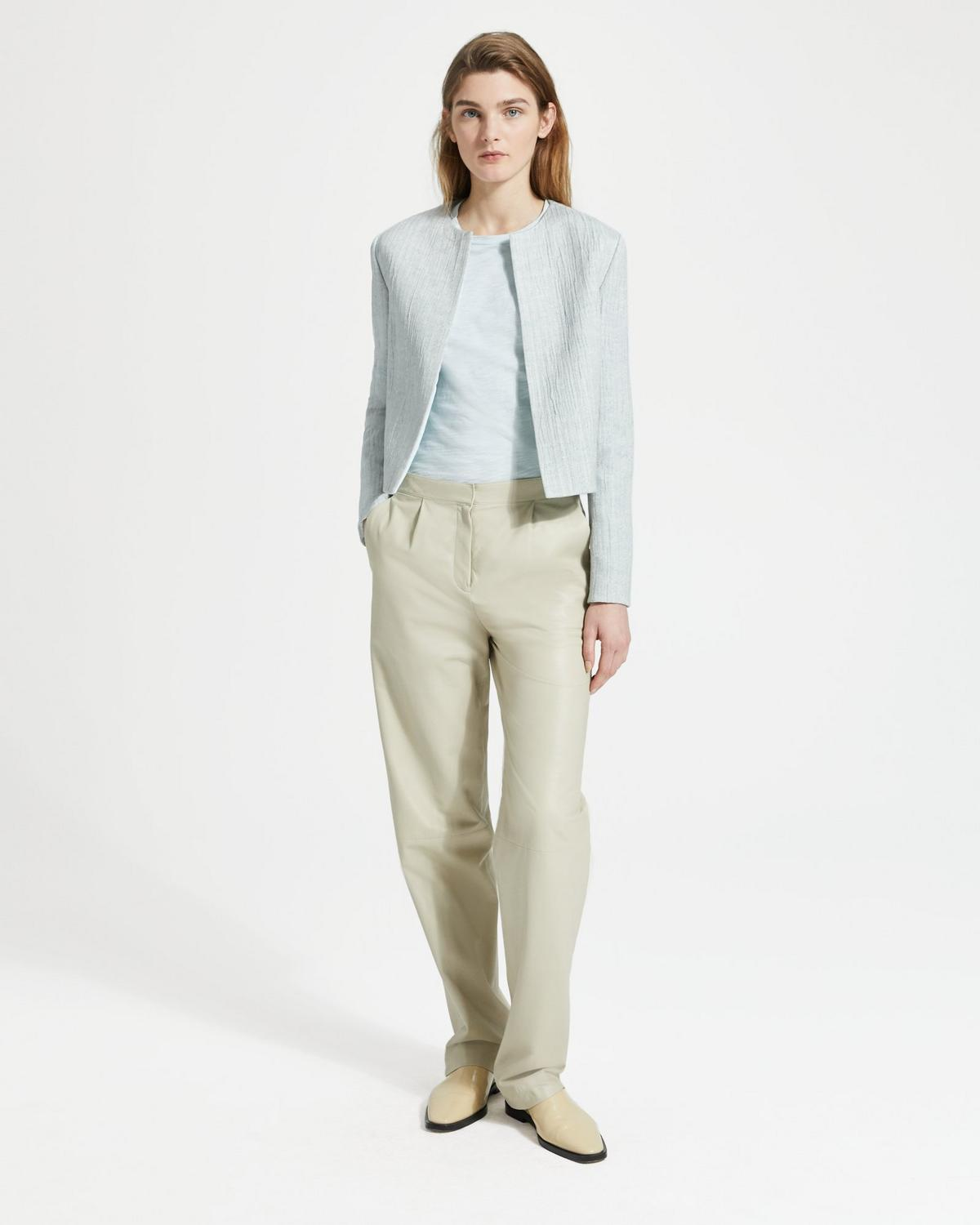 1f67029a184 Linen Blend Cropped Jacket | Theory