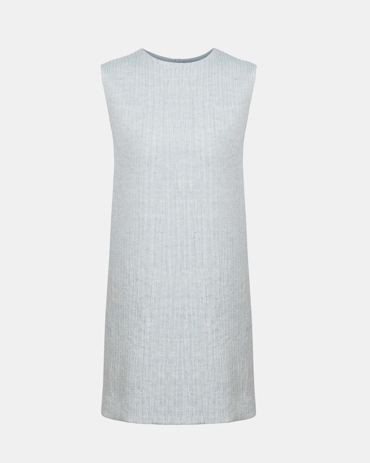 Linen Blend Column Dress