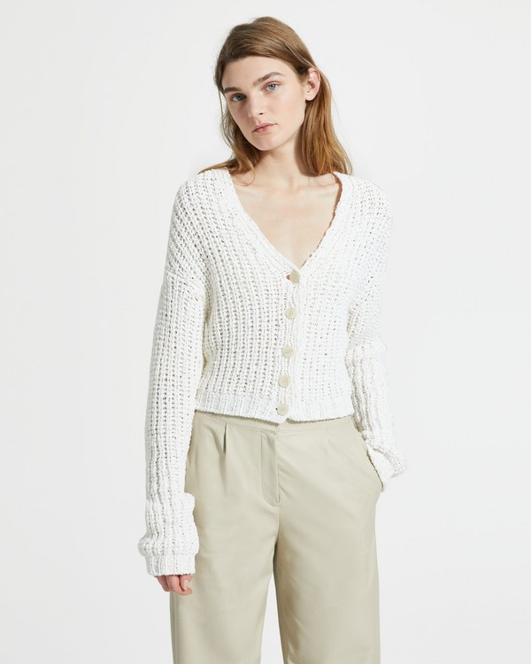 3010d87bce Cotton Nylon Ribbed Cardigan