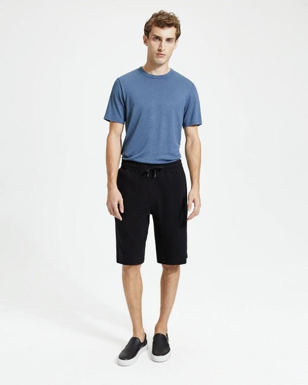 띠어리 맨 반바지 Theory Cotton Terry Relaxed Sweatshort,BLACK
