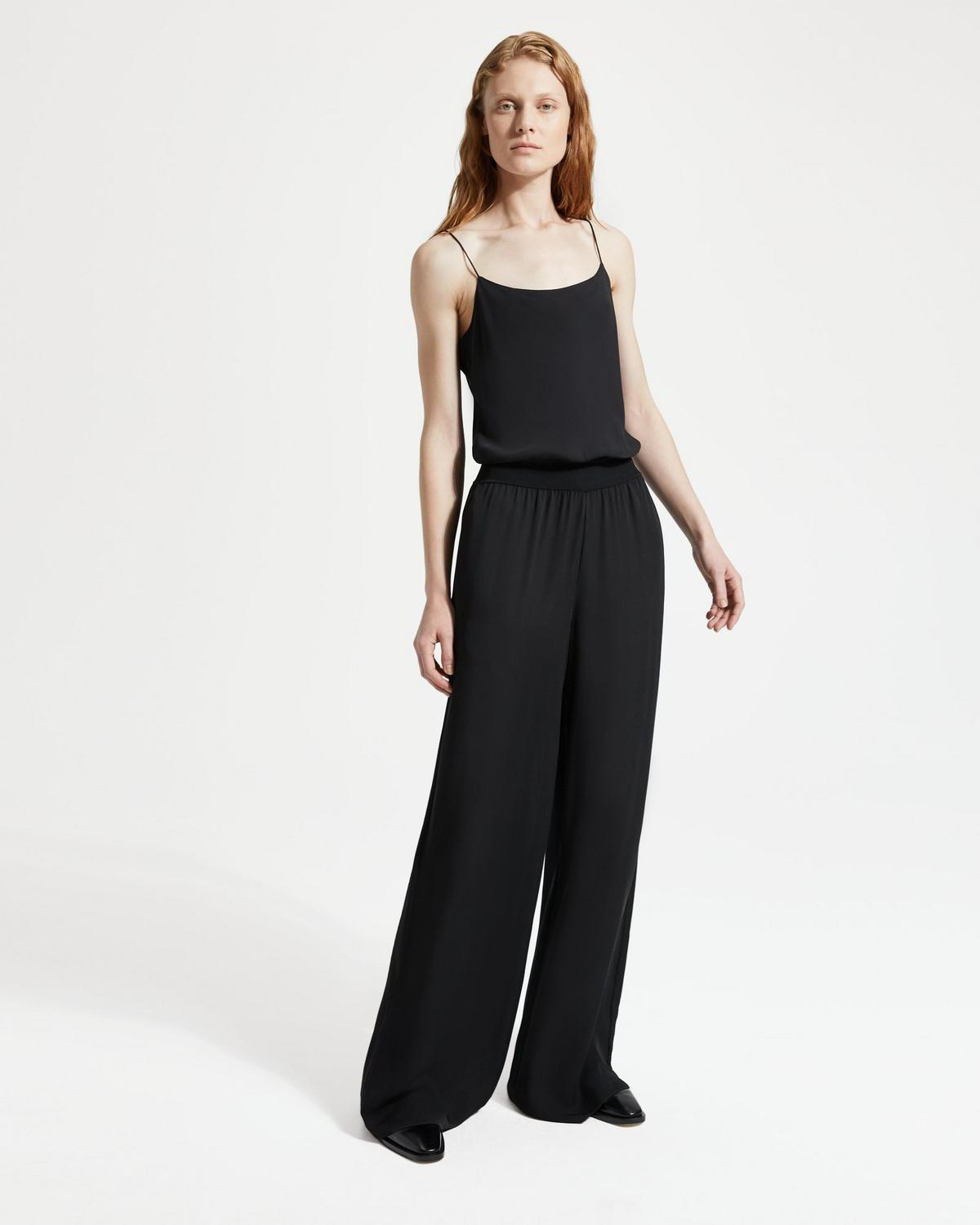 6557a19fa49e6 ... Silk Combo Ribbed-Waist Jumpsuit 2 - click to view larger image
