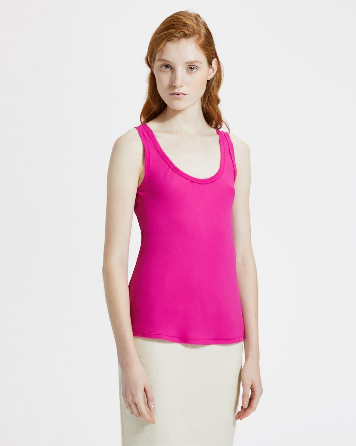 Silk Scoop Tank Top
