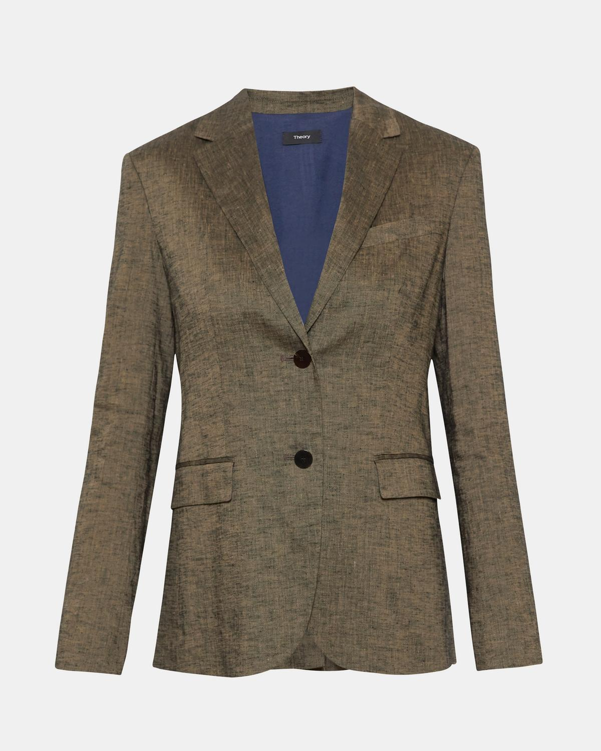 Classic Blazer in Textured Linen