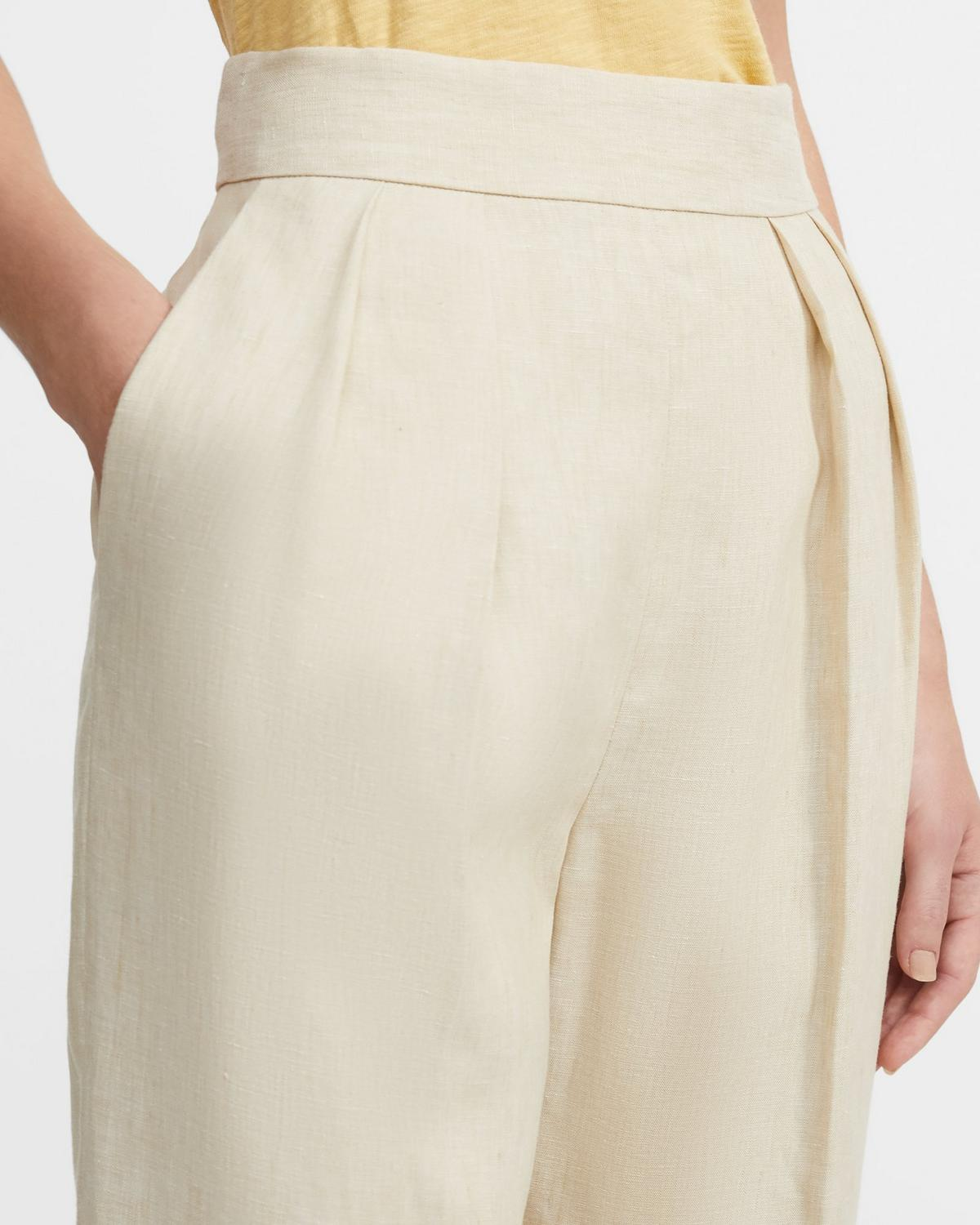 Pleated Pant in Pure Linen