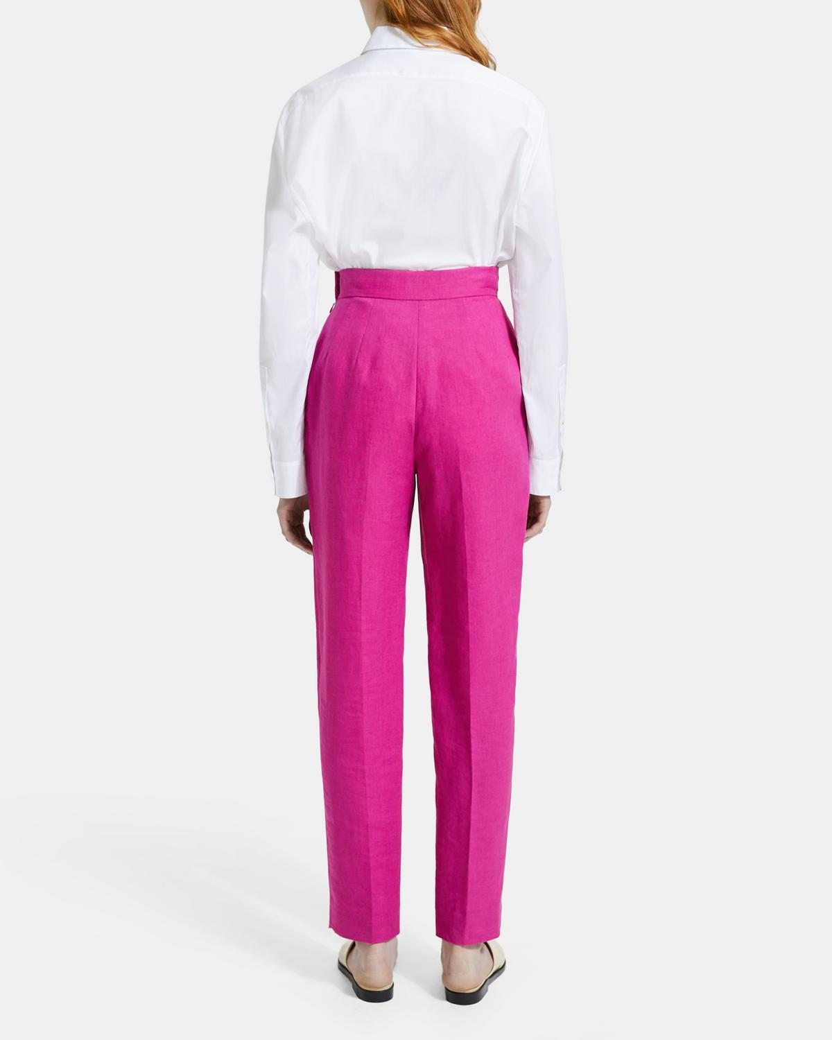 Pure Linen Pleated Pant