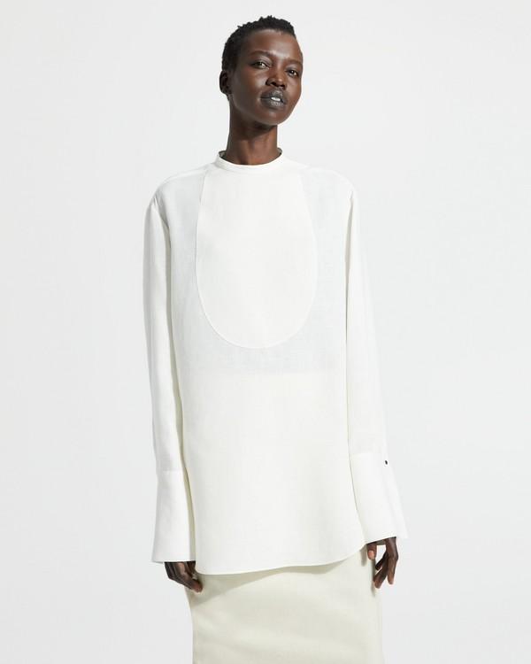 e2ce34d4fb Pure Linen Bib Tuxedo Shirt
