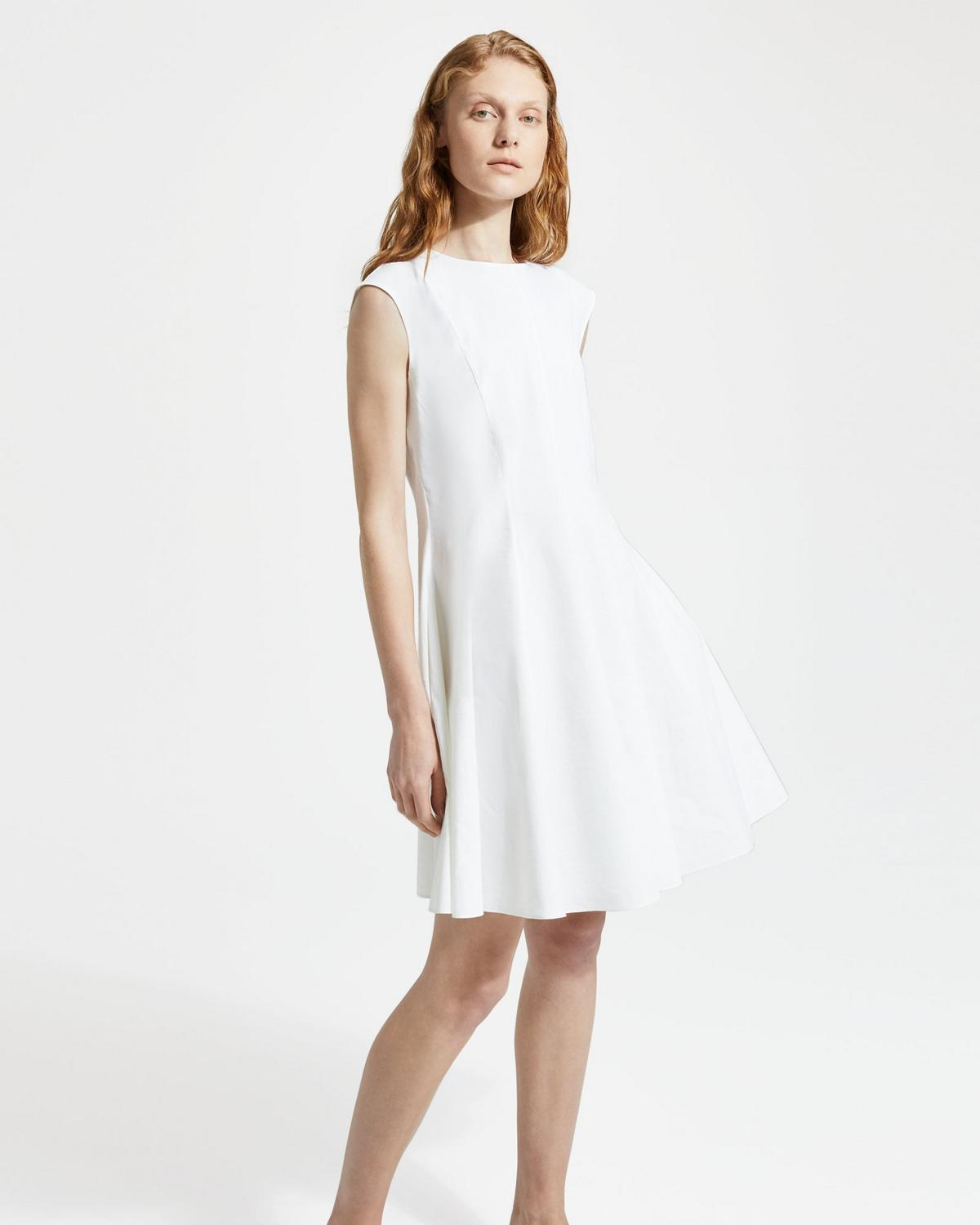 Good Linen Sleeveless Peplum Dress
