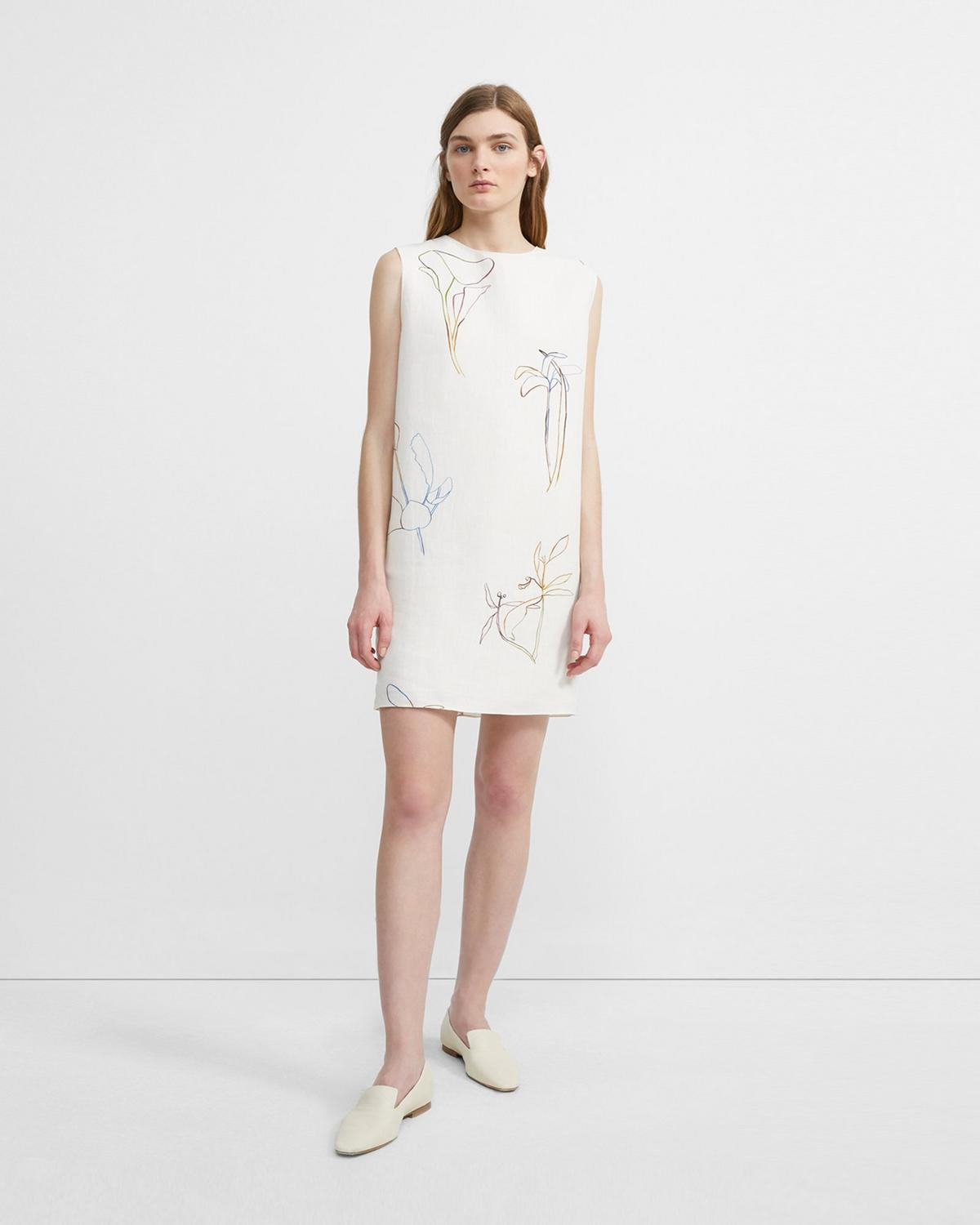 Nature Linen Column Dress