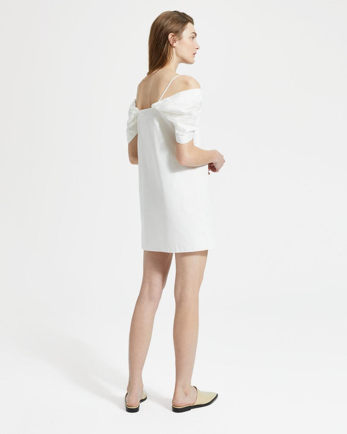 Classic Chino Draped-Sleeve Dress