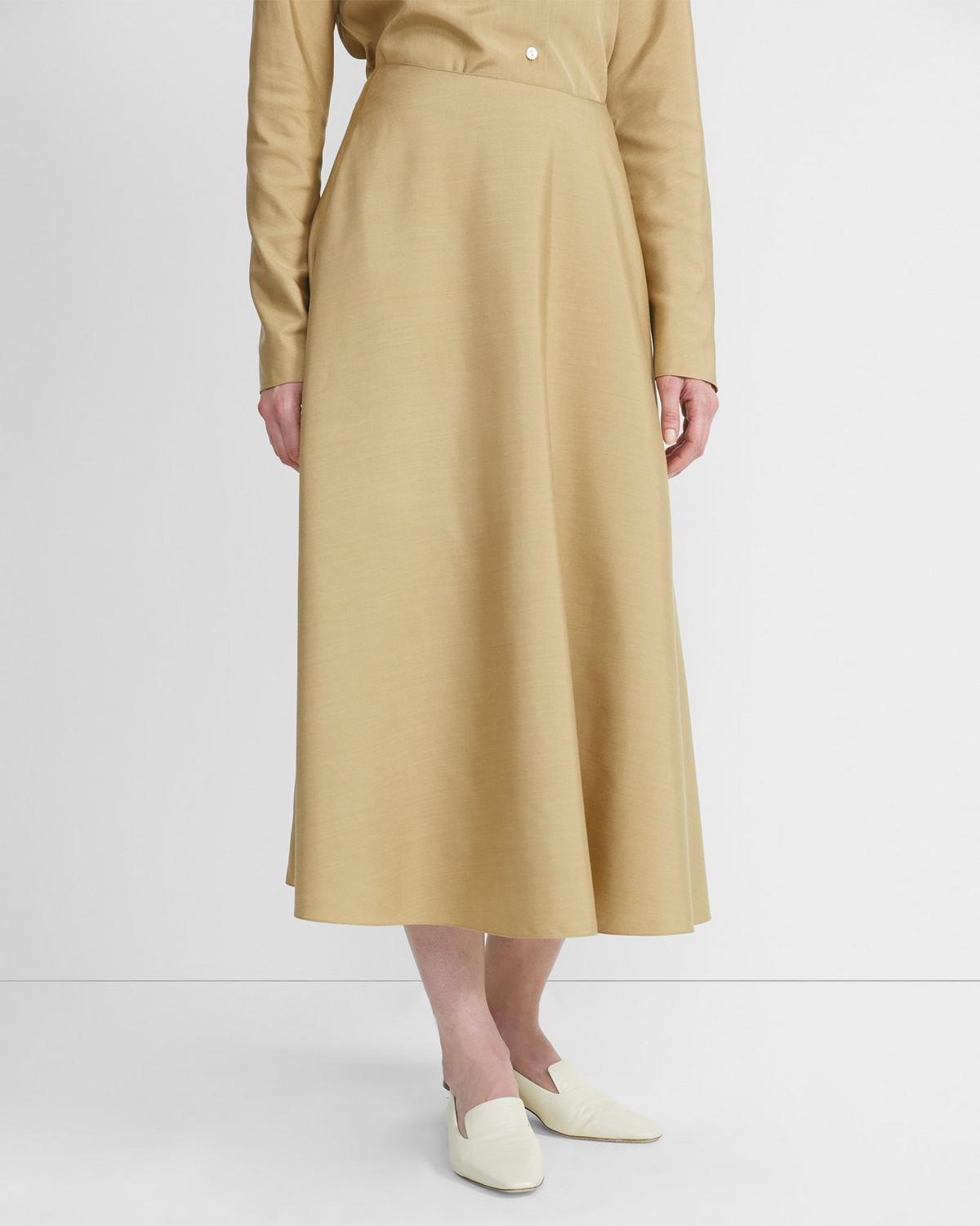 Sanded Silk Volume Skirt