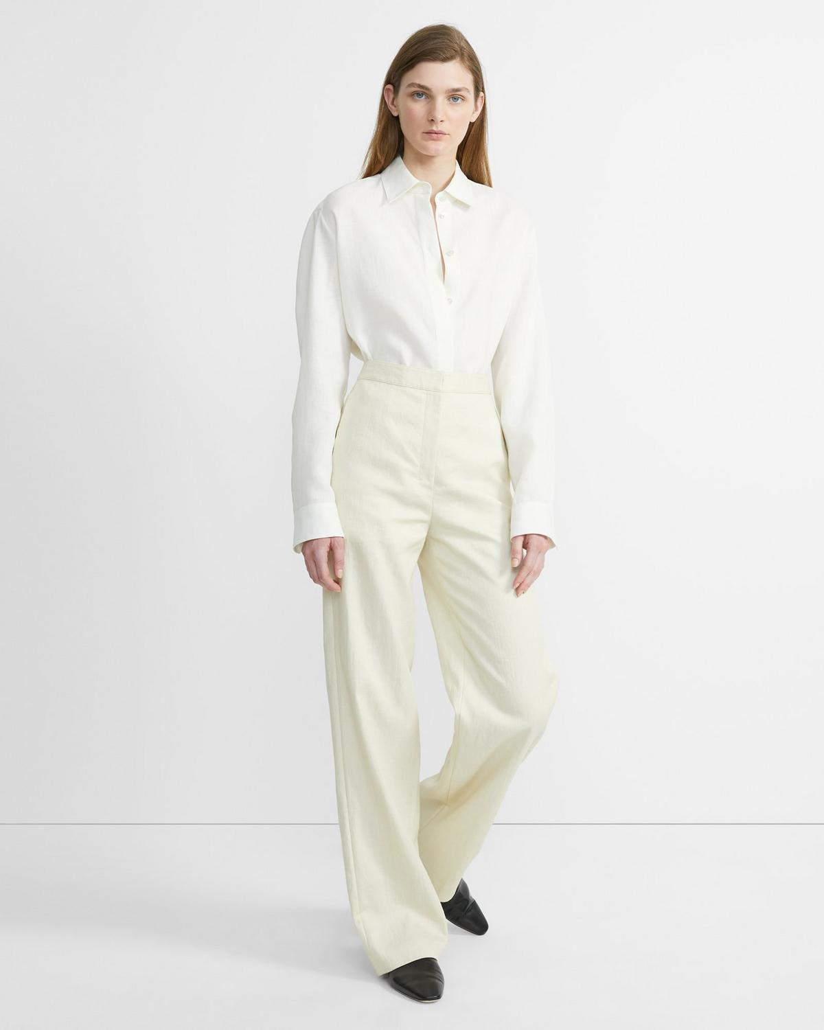 Luxe Linen Clean Trouser