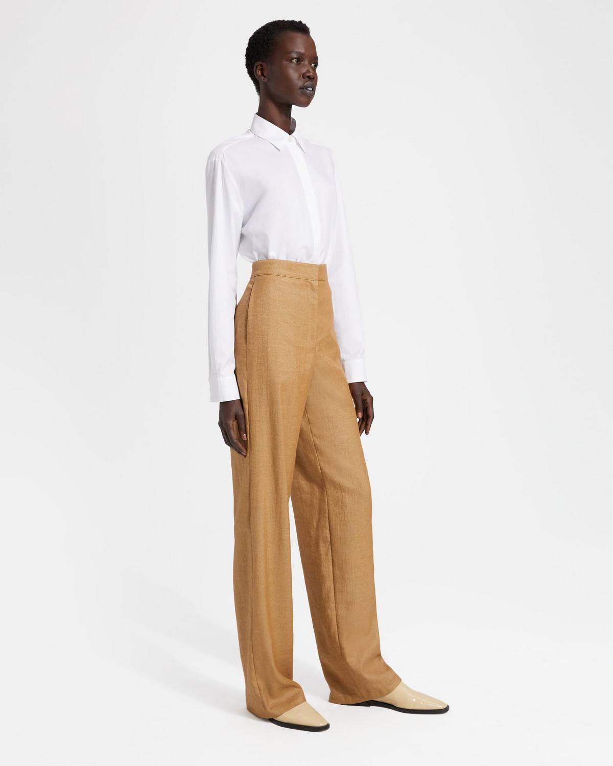 Clean Trouser in Luxe Linen