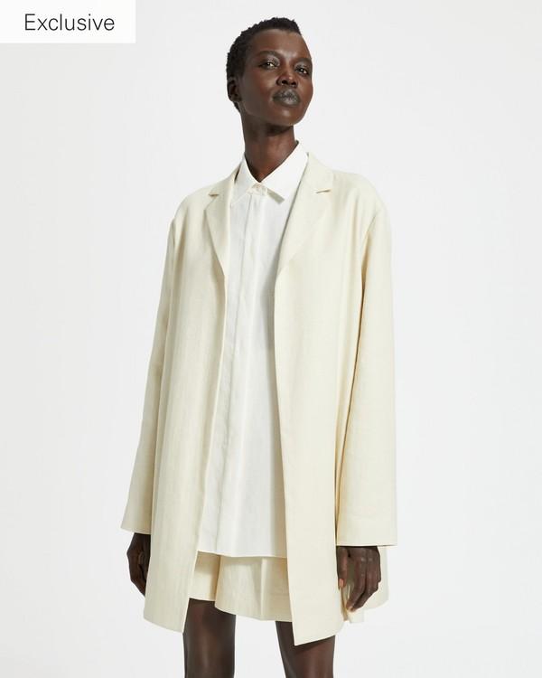 03651f45cc93 Luxe Linen Overlay Coat