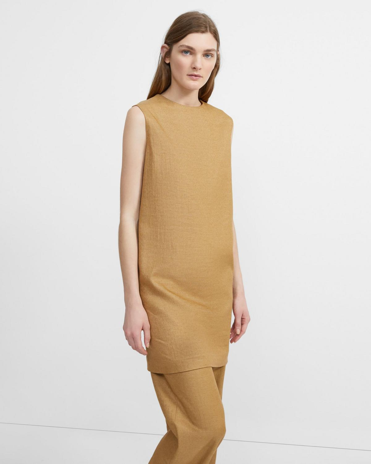 Luxe Linen Column Dress