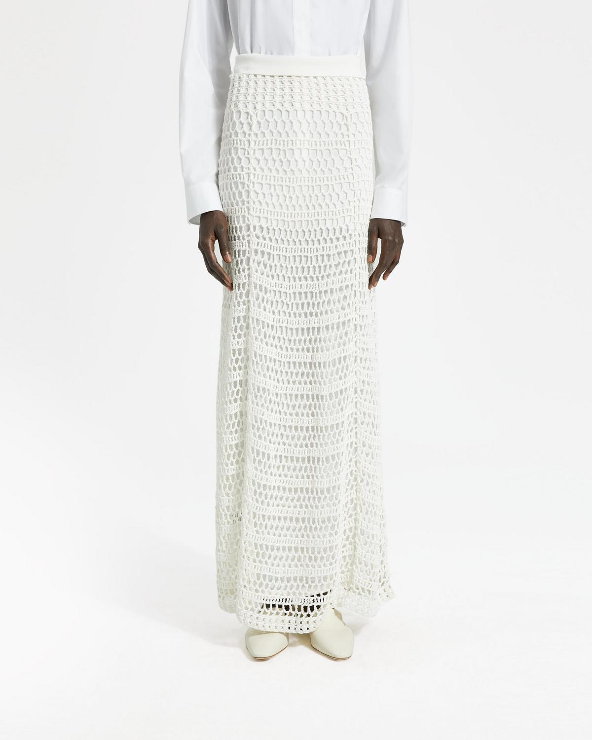 clear and distinctive latest discount special sales Crochet Maxi Skirt