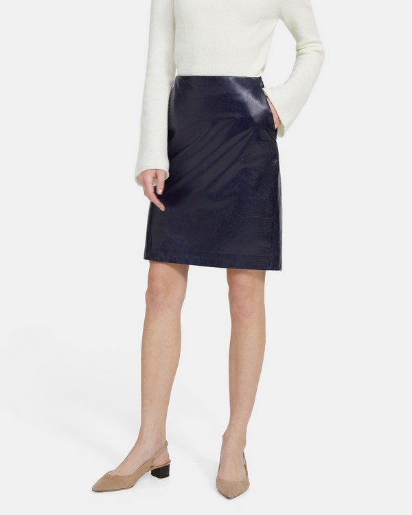 Clean Pencil Skirt in Leather