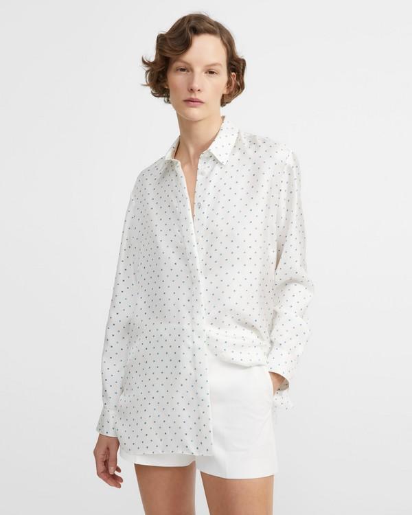 89495827f Dotted Silk Classic Menswear Shirt