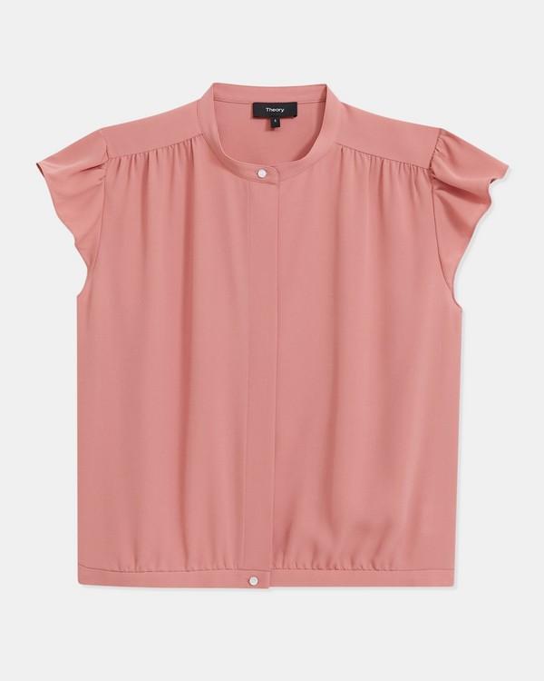 25287fb200f Shirred Yoke Short-Sleeve Shirt