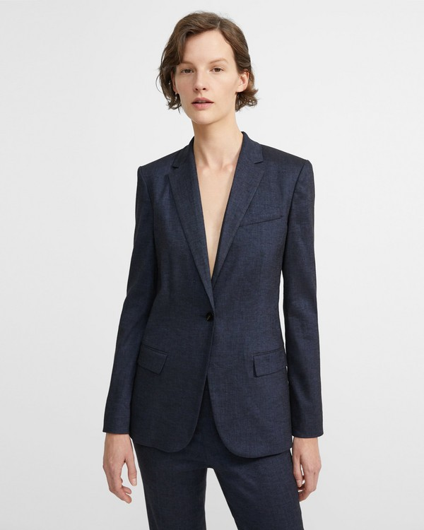 acc7711ac58 Textured Good Linen Staple Blazer