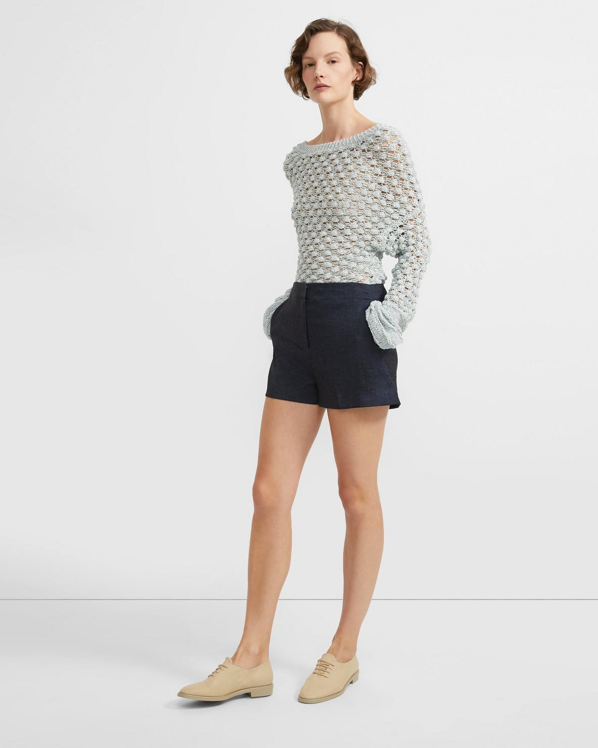 Textured Good Linen Mini Short