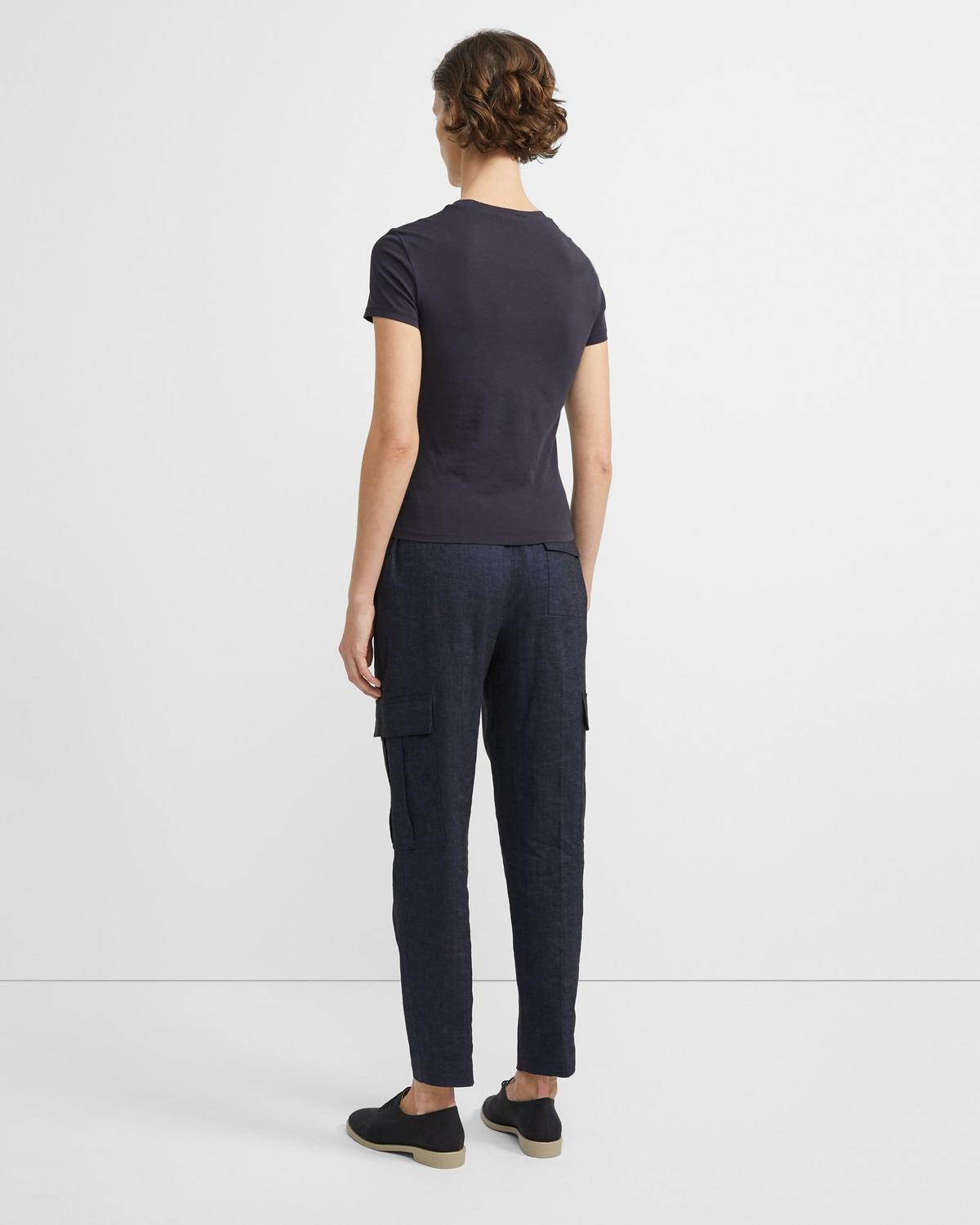 Textured Good Linen Easy Cargo Pant