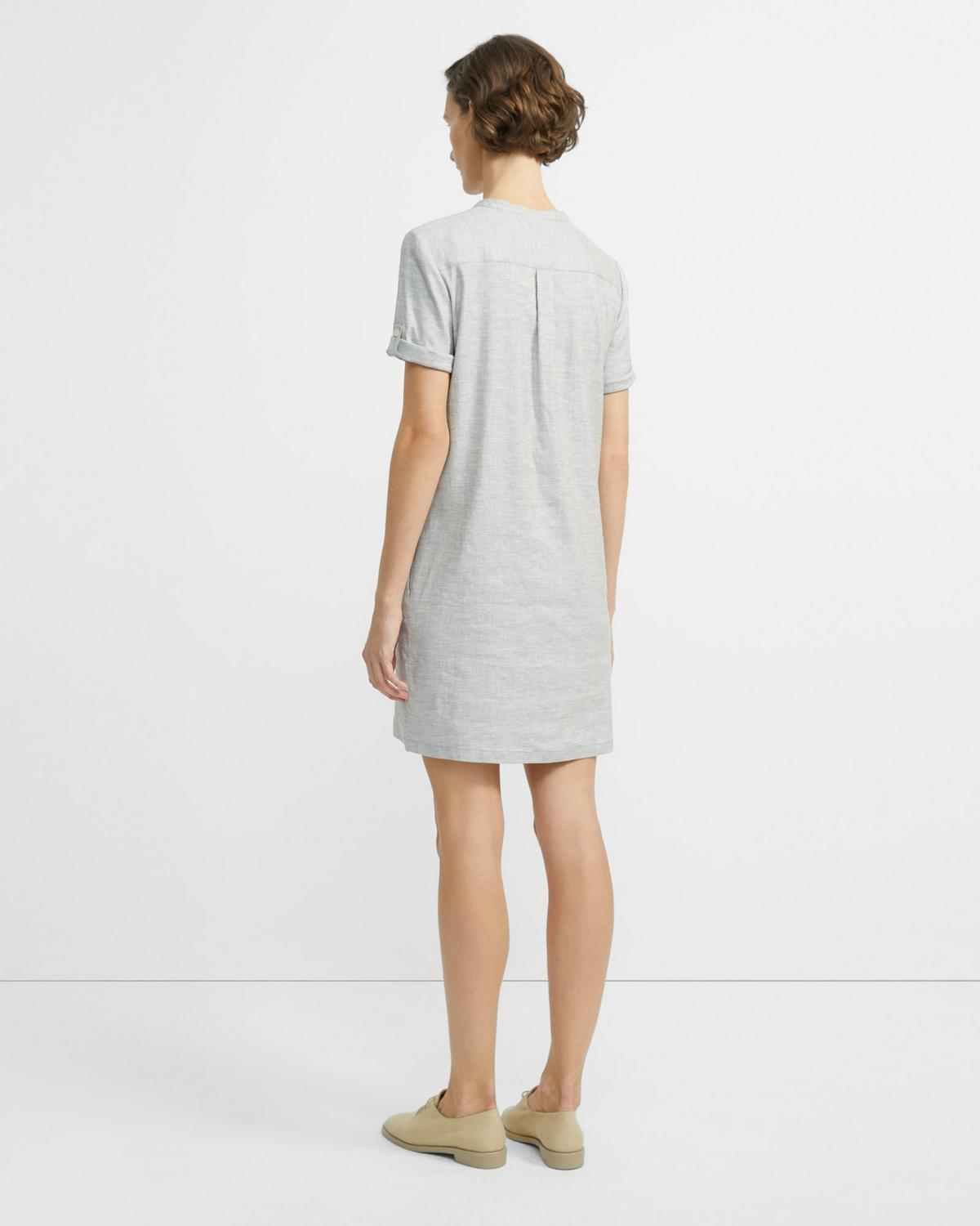 Stretch Linen Shift Dress 0 - click to view larger image