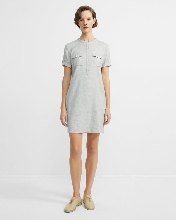 4f887149fd8 Stretch Linen Shift Dress