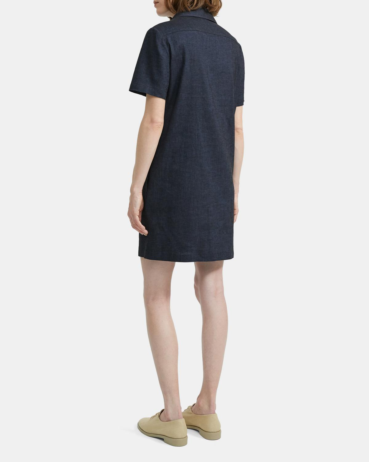 Button-Down Dress in Textured Good Linen