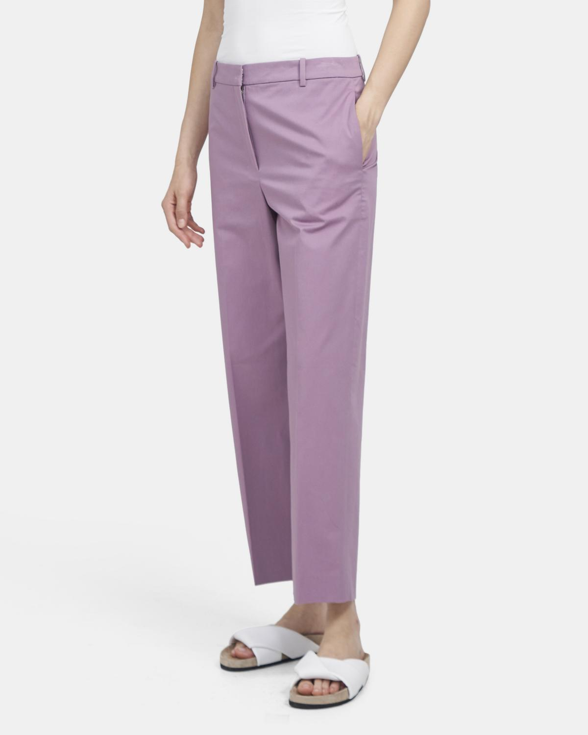 High-Rise Straight Pant in Stretch Chino