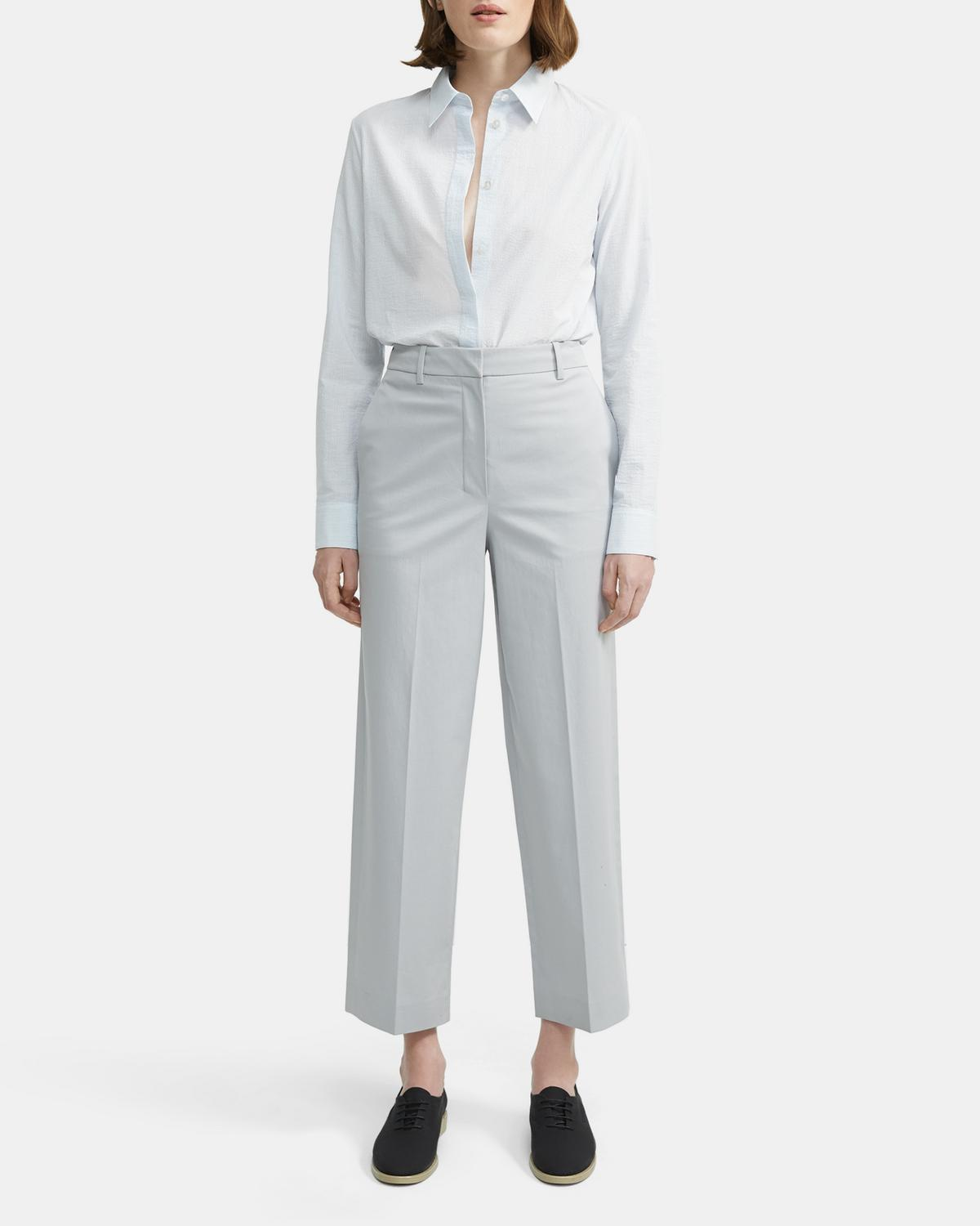 Stretch Chino High-Waisted Straight Trouser