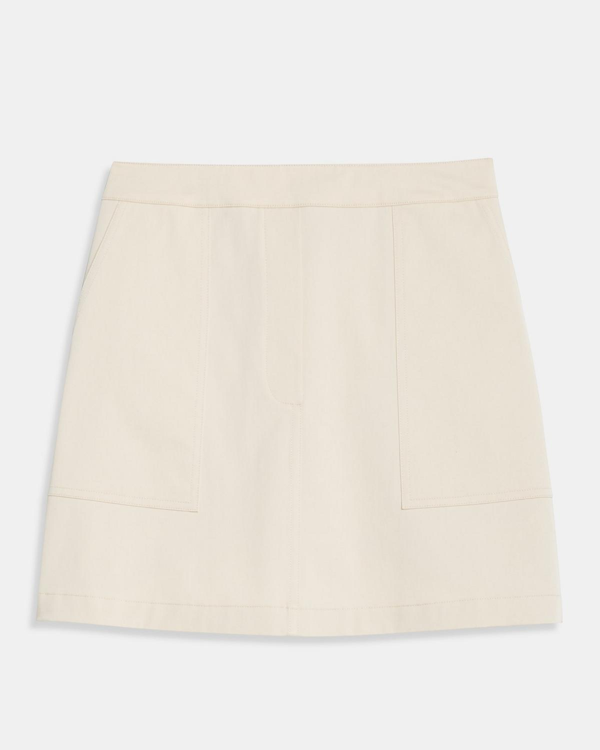 Classic Chino Stitched Pocket Skirt